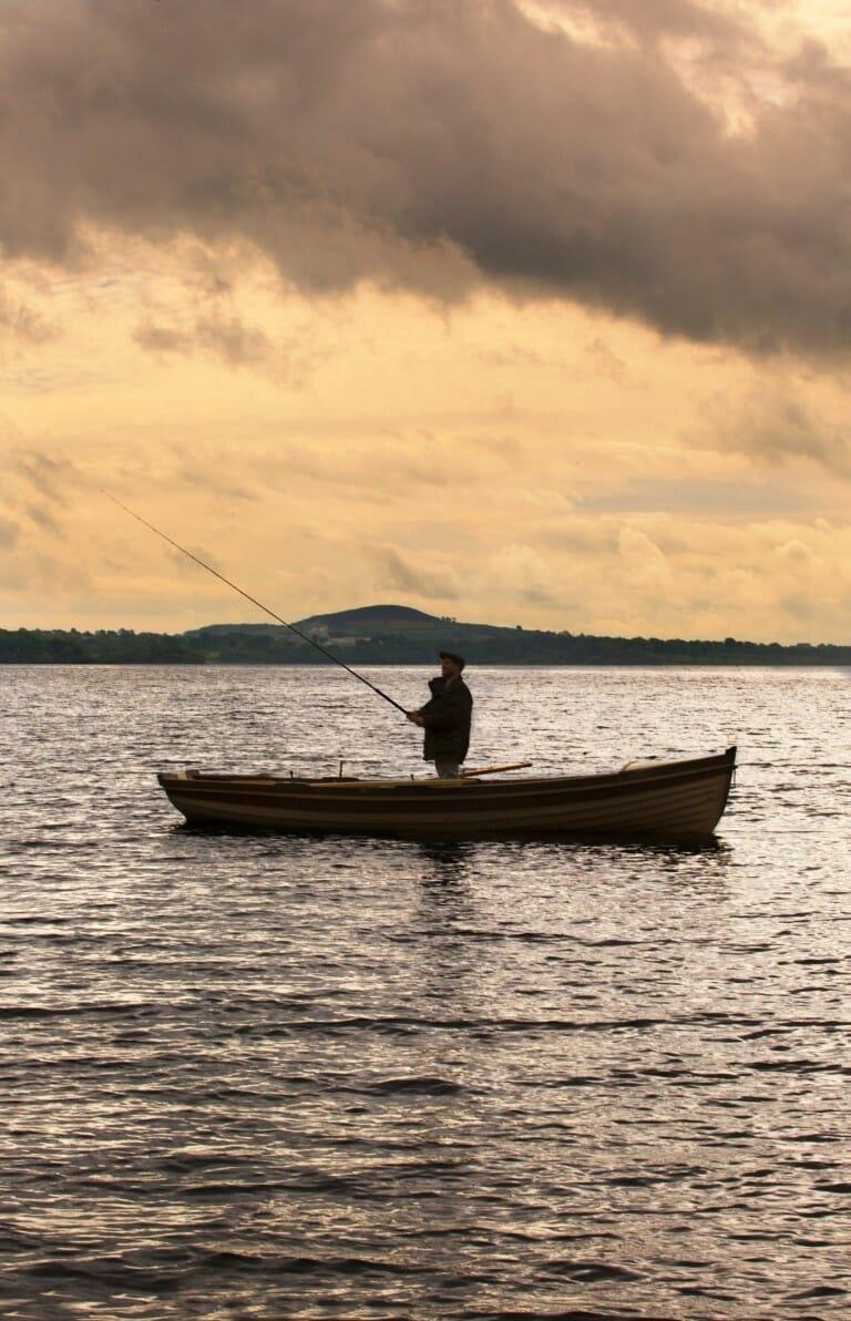 Fishing on lough Ramor